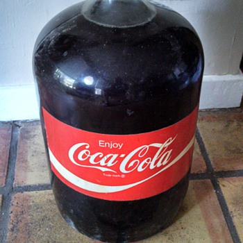 5 gallon glass coca cola carboy not opened - Coca-Cola