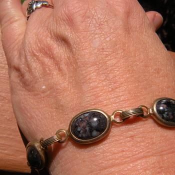 Mom's 1960's vintage scarab bracelet