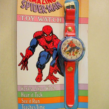 NOS Marx Toy Spider Man Wrist Watch - Toys