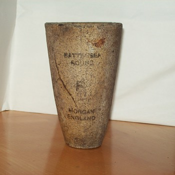 old pottery cup morgan england
