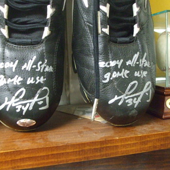 2004 David Ortiz All Star Game Used Cleats - Baseball