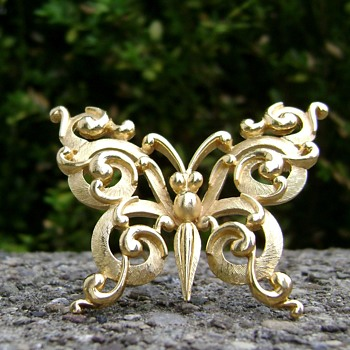 Crown Trifari Butterfly Brooch