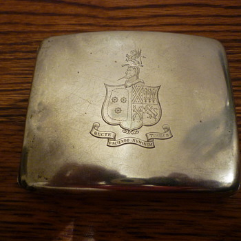 Silver cigarette holder
