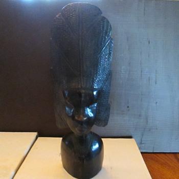 Beautiful Hand Carved Head Like a Tiki  - Folk Art