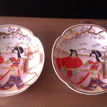 Two small Japanese plate's