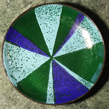Enamelled Copper Dish / Ashtray
