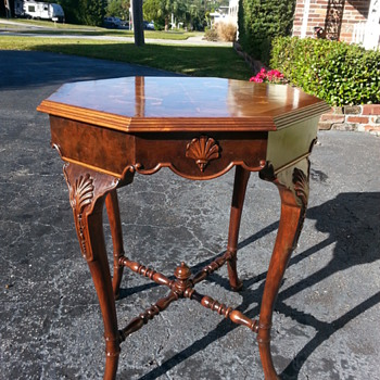 Octagonal parlor table