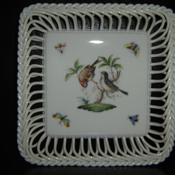 Herend Rope Trimmed Candy Dish!