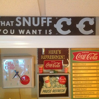 CC Snuff sign - Advertising