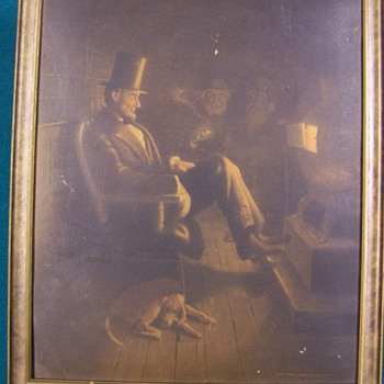 Framed Picture Abraham Lincoln any help would be great