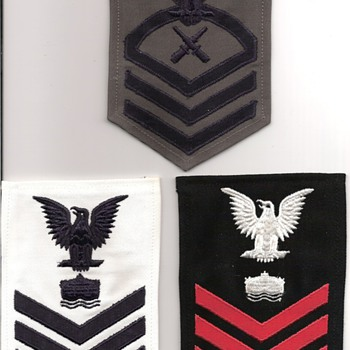 U.S.Navy Chief & 1st Class Chevron's - Military and Wartime