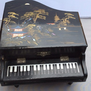 Antique piano musical jewellery box