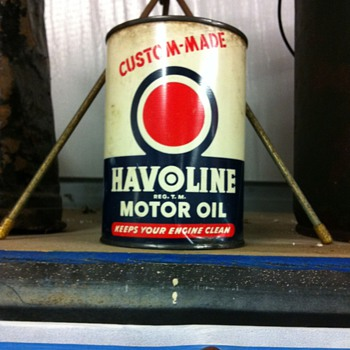 Halvoline 1 quart can  - Petroliana