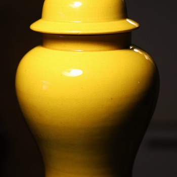 Beautiful Balluster Vase and Cover - Pottery