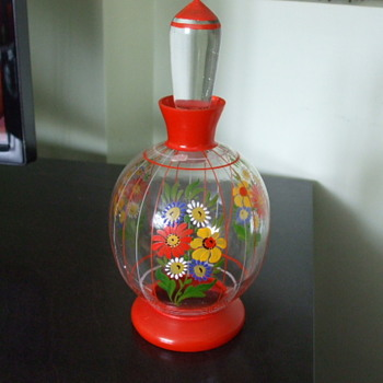 Oh So CZECH! Painted Flowers Perfume Bottle