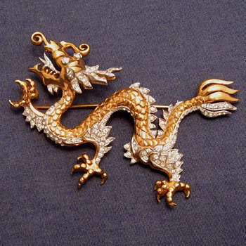 Marcel Boucher Dragon Pin Mystery - Costume Jewelry