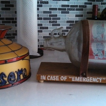 """In Case of Emergency"" Budweiser Lamp"