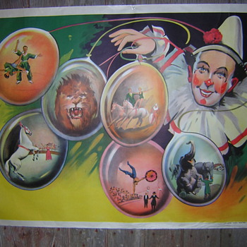 OLD CIRCUS POSTER - Posters and Prints