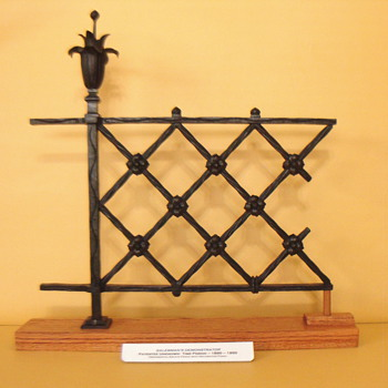SALESMAN'S SAMPLE OR STORE DISPLAY IRON FENCE