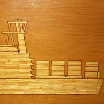 Cargo Ship - Folk Art