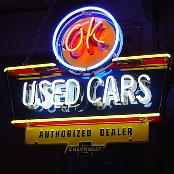 New Neon...OK Used Cars...Authorized Dealer...Chevrolet - Signs