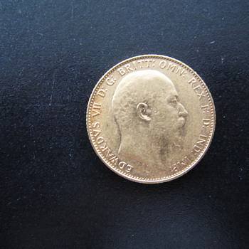 1907 British Gold Sovereign Gold Coin