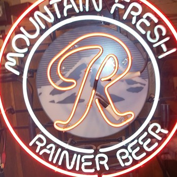 "Round Mountain Fresh Rainer ""R""  - Signs"