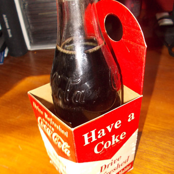 1950s Coca-Cola Handy Bottle Holder  Common item but not so common.....