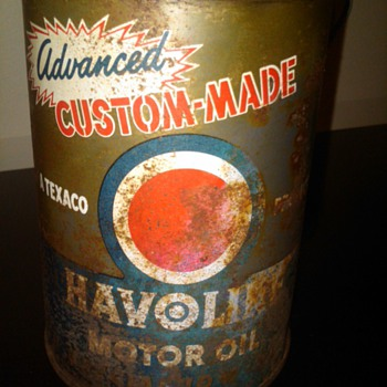 Havoline advanced custom made motor oil can