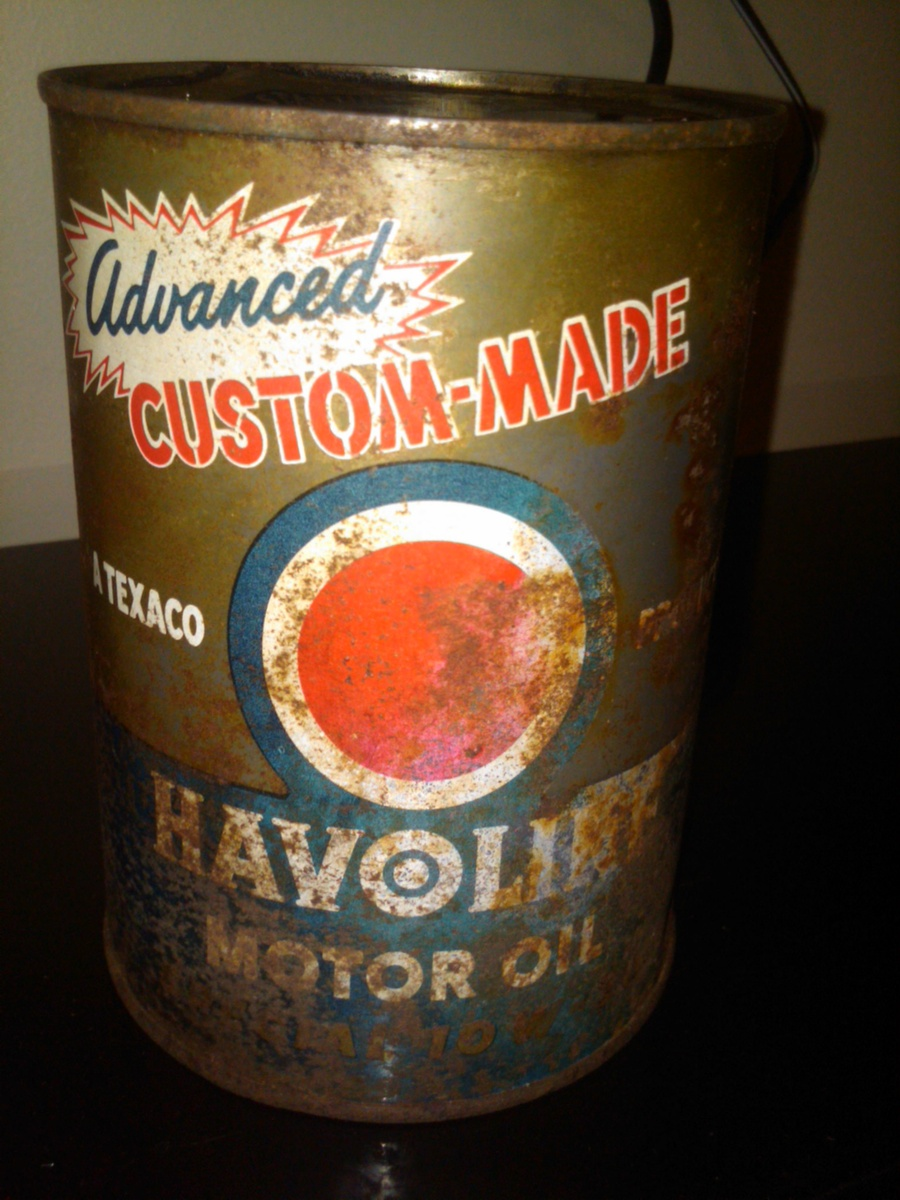 Havoline advanced custom made motor oil can collectors for How is motor oil made