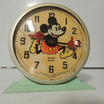 MICKEY MOUSE FRENCH BAYARD CLOCK - Clocks