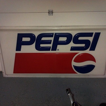 Early 90s Pepsi Sign   - Advertising