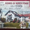 27-Picture Postcard of Movie Stars&#039; Homes in Hollywood, California