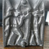 Toy lead soldier mold. Dug up in the woods!