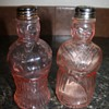 Depression Era Pink Figural Salt and Pepper