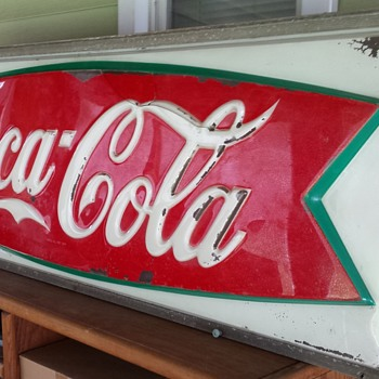 Coca Cola Large Light Sign