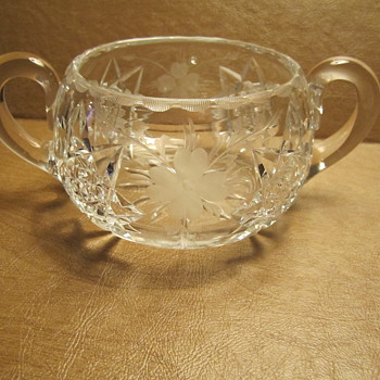 Hawkes Cut Glass Crystal Bowl (Sugar Bowl ?)
