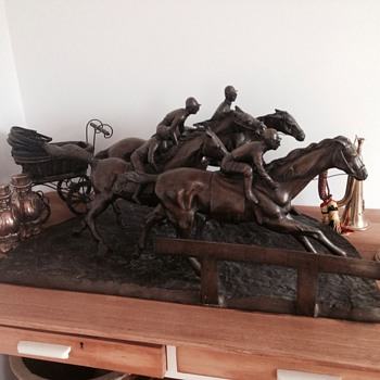 Bronze racer horse  - Animals