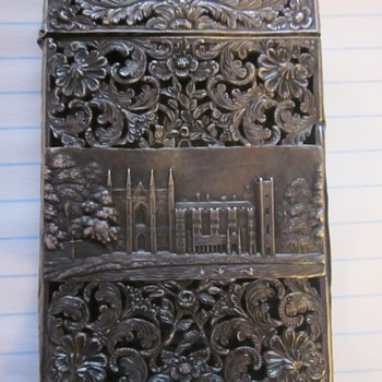 Sterling Silver Card Case Circa 1830's - Sterling Silver
