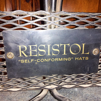 Need info... Vintage Resistol Hat display - Hats