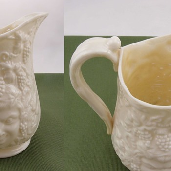 Belleek Mask Creamer - 3rd mark - Pottery