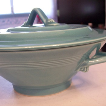 I am think it is a fiesta bowl with cover - China and Dinnerware