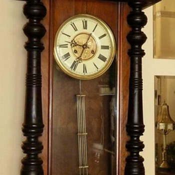 BIG German Vienna 'Style' Regulator Wall Clock - Clocks