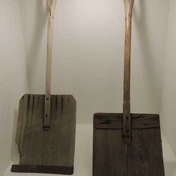 Two Early 20th Century Snow Shovels