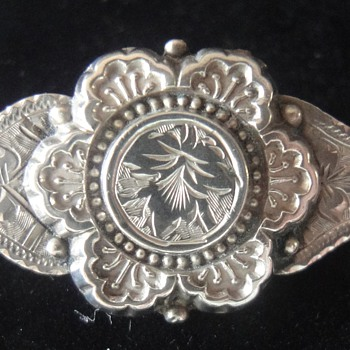Little Victorian Silver (Sweetheart?) brooch