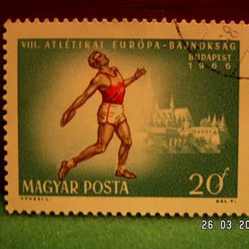 1966 Budapest Magyar Posta 20F Stamp - Stamps