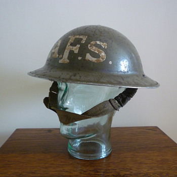 British WWII Auxilliary Fire Service steel helmet. - Military and Wartime