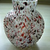 Welz Ribbed Spatter Glass Vase