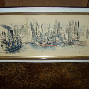 Two John Haymson Prints of New York City - Both Signed & Titled - Central Park & Downtown Skyline - Posters and Prints