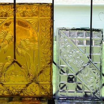 Pressed window glass - Art Glass